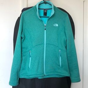 Aqua North Face Soft Zip Collar Jacket Medium